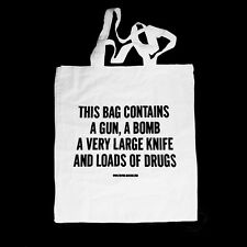 TREVOR JACKSON WHITE TOTE RECORD BAG ** PLEASE LOOK AT PHOTO / DESIGN ***
