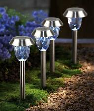 2-Pack Solar Powered Stainless Steel LED Pathway Lawn Light Lamp Sun Power