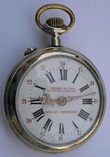 ANTIQUE CHEMIN DE FER SYSTEME ROSKOPF QUALITE SUPERIEURE POCKET WATCH SWISS 1900