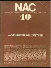 NAC ARTE CONTEMPORANEA OTTOBRE 1973 N. 10 FUMETTI FASCISMO ARTE POVERA