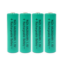 4 pcs 2800mWh 1.6V AA 2A NiZn Rechargeable Battery Cell Green US Stock