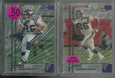 Minnesota Vikings 1999 Topps Finest Unpeeled #61 Robert Smith, and #85 Jake Reed