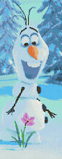 "Olaf - Frozen The Movie  Counted Cross Stitch Kit 6"" x 14"" Disney, Free P&P"
