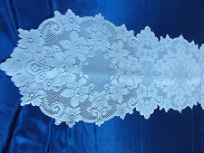 HERITAGE LACE WHITE CLAREMONT TABLE RUNNER 14.5 BY 72 ITEM 6024
