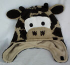 """Baby Boy Character """"Giraffe"""" Winter Knit Beanie with Ties Brown 12-24 Months NWT"""