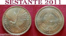 B16 CHILE CILE 10 CENTESIMOS CENTESIMI 1969 KM# 191
