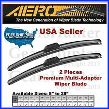AERO ALL SEASON PREMIUM P&H/PTB/I&L/OEC/PIN/J-HOOK BRACKETLESS WIPER BLADES 2PCS