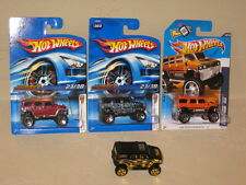 Hot Wheels Lot of 4 Hummer H2 Variation 2006 First Editions GM General Motors