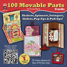TERESA'S MOVABLE PARTS CARDS-DVD-3D Greeting/Cardmaking/Making-Paper Craft Idea