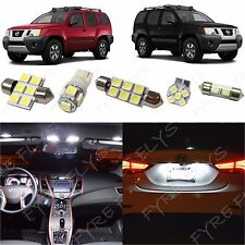 6 Piece white LED interior conversion package kit and license plate lights NX1W