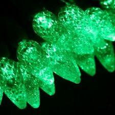 100 count C 6 LED Christmas Light String Green Color