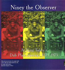 """LP 12"""" 30cms: Niney the Observer at king tubby's: dub plate specials 1973-1975."""