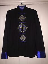 Pre-Owned Unbranded Men's Traditional Chinese Jacket Black Size M