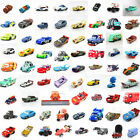 Mattel Disney Pixar Metal Diecast 1:55 Cars1 2 King Mcqueen Holly Sally Lizzie