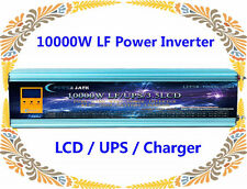 10000W LF Split Phase PSW 12V DC/110V,220VAC 60Hz Power Inverter LCD/UPS/Charger