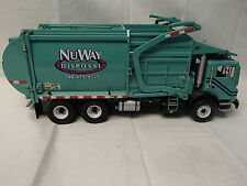 RARE NUWAY OF IL. FRONT LOAD GARBAGE TRUCK WITH DUMPSTER MINT BY FIRST GEAR