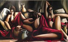"Eric Zener - Gorgerous Large Modern Cubist - ""Three Women at Rest II"""