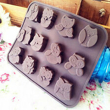 Silicone Owl Cake Decorating Mould Candy Cookies Chocolate Soap Baking Mold Tool