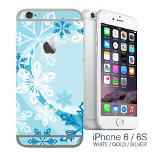 Snowflakes Christmas iPhone 6 wrap skin - iphone sticker cover for iphone