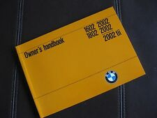 BMW 2002 2002tii NEW Owner's Manual / 1972-3 Perfect!