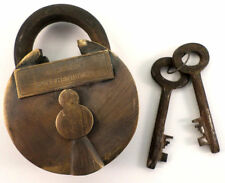 Cast Iron Alcatraz Death Row Penitentiary Prison Padlock Lock With 2 Keys #3103
