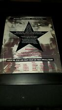 The Jesus And Mary Chain Automatic Rare Original Promo Poster Ad Framed!