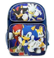 "Sonic the Hedgehog Large Backpack School Bag 16"" Licensed by SEGA- NEWEST"