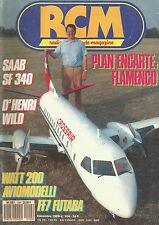 RCM N° 104 PLAN : FLAMENCO / SAAB SF 340 / WATT 200 / AVIONMODELLI / FF7 FUTABA