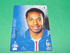 THIERRY HENRY EQUIPE FRANCE BLEUS PANINI FOOTBALL CARD 2002