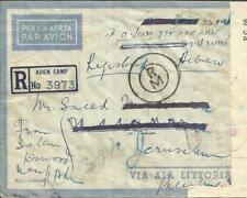 Aden SG#24,#18-ADEN CAMP 14/JUN/44-Registered(label)-WWII CENSOR-AIR MAIL