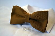 "Trabucco Gold 2 layer tweed pre-tied ""Wow bow ties"" bow tie"