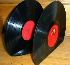 Set Of Real Vintage Record Bookends