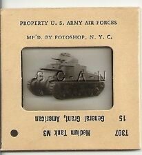 WWII US 35mm Recognition Slide Negative- Medium Tank- M3 Grant- Front Side View