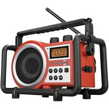 Sangean Tough Box Tradie Radio in Red - Model TOUBOX - Brand New In Box