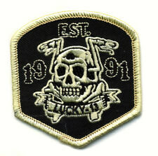 lucky 13 patch badge Flying High Skull Chopper Biker Motorcycle Race Tattoo