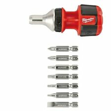 Compact 8IN1 Ratchet Multi Bit Driver Milwaukee 48-22-2320 New