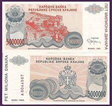 Croatia P R24a, 500,000 Dinar, Fortress, 1993 $3+CV! UNC