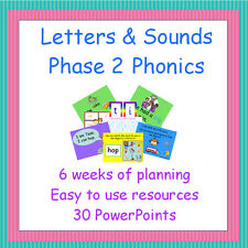 Phase 2 Letters and Sounds Planning & Resources on CD, Phonics, Teaching, EYFS
