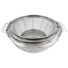 U.S. Kitchen 3pc Colander Set, Stainless Steel Mesh Strainer Net Baskets 3 4 5qt