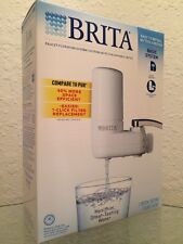 New Brita White On Tap Faucet Water Filtration System