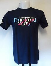 RWC 2015 NAVY SCRIPT TEE SHIRT BY CANTERBURY SIZE ADULTS LARGE BRAND NEW