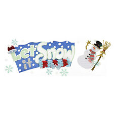 Christmas  Let It Snow Title RARE Scarf Mittens Snowflakes Jolee's 3D Sticker