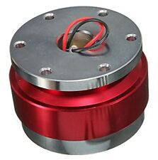 QUICK RELEASE STEERING WHEEL BALL Hub Adapter Snap Off Boss Kit Universal Red