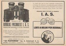 Z1418 Binocoli LA FILOTECNICA Ing. Salmoiraghi - Pubblicità d'epoca - 1928 Ad