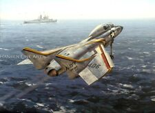 Vought F7U Cutlass Limited Edition Aviation Painting Art VF-83 Print Darryl Legg