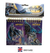 2 x Kids BATMAN NOTEBOOK PACK Party Favors Bag Fillers Birthday Stationary Gift