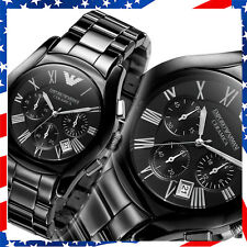 *USA SELLER* 100% New Authentic Emporio Armani Mens Black ceramic Watch AR1400