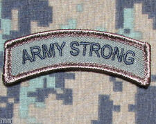 ARMY STRONG ROCKER TAB USA TACTICAL US MILITARY MORALE BADGE FOREST VELCRO PATCH