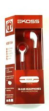 187254  KOSS KEB15i In-Ear Headphones (Red) with inline Mic for Smartphone