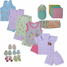 New Born Baby Infant Girl Boy Cotton Cloth Summer Complete Set - Little Bunnies